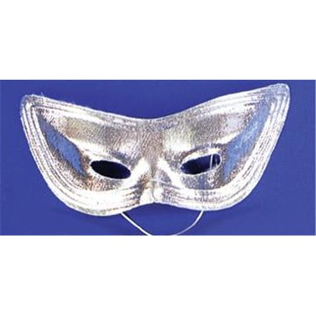 Costumes For All Occasions Ti06Sv Harlequin Mask Lame Silver - The Town Masks For Sale