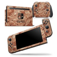 Modern Marble Copper Metallic Mix V5 - Skin Wrap Decal Compatible with the Nintendo Switch Pro Controller