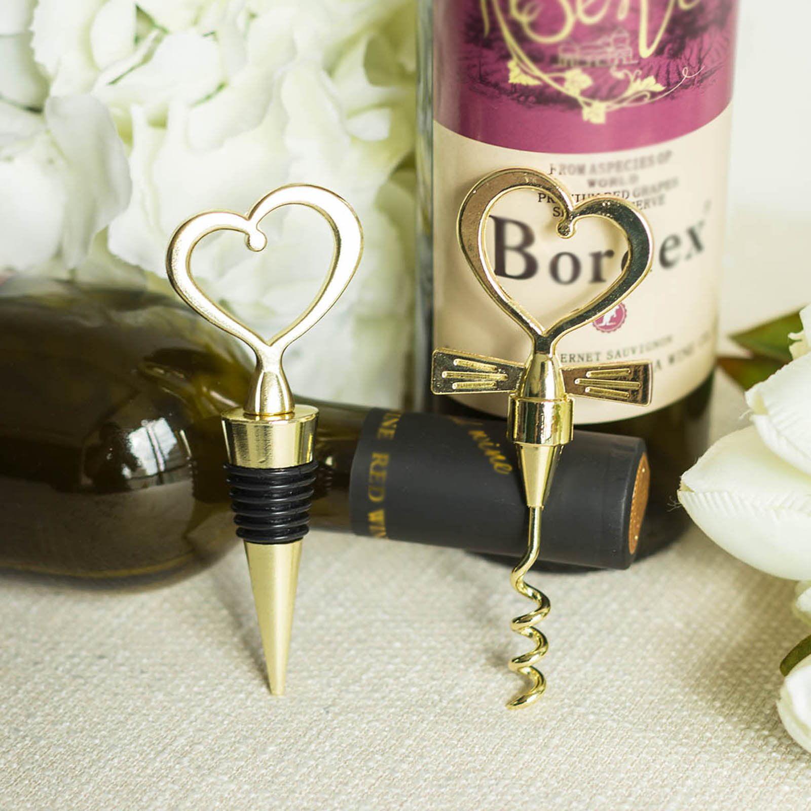 Heart Wine Bottle Stopper Favour