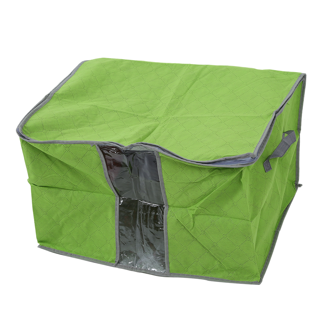 SODIAL Green Quilt Blanket Pillow Under Bed Storage Bag Box Container Non-woven Fabric
