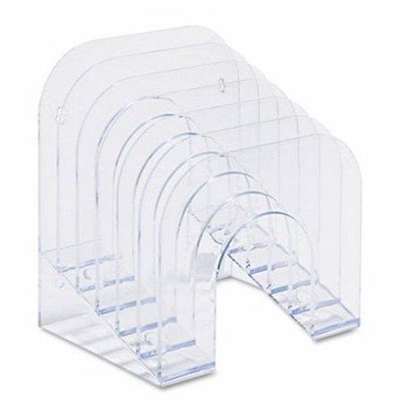 Rubbermaid Six-Tier Jumbo Incline Sorter, Plastic, Clear (Rubbermaid Jumbo Incline Sorter)