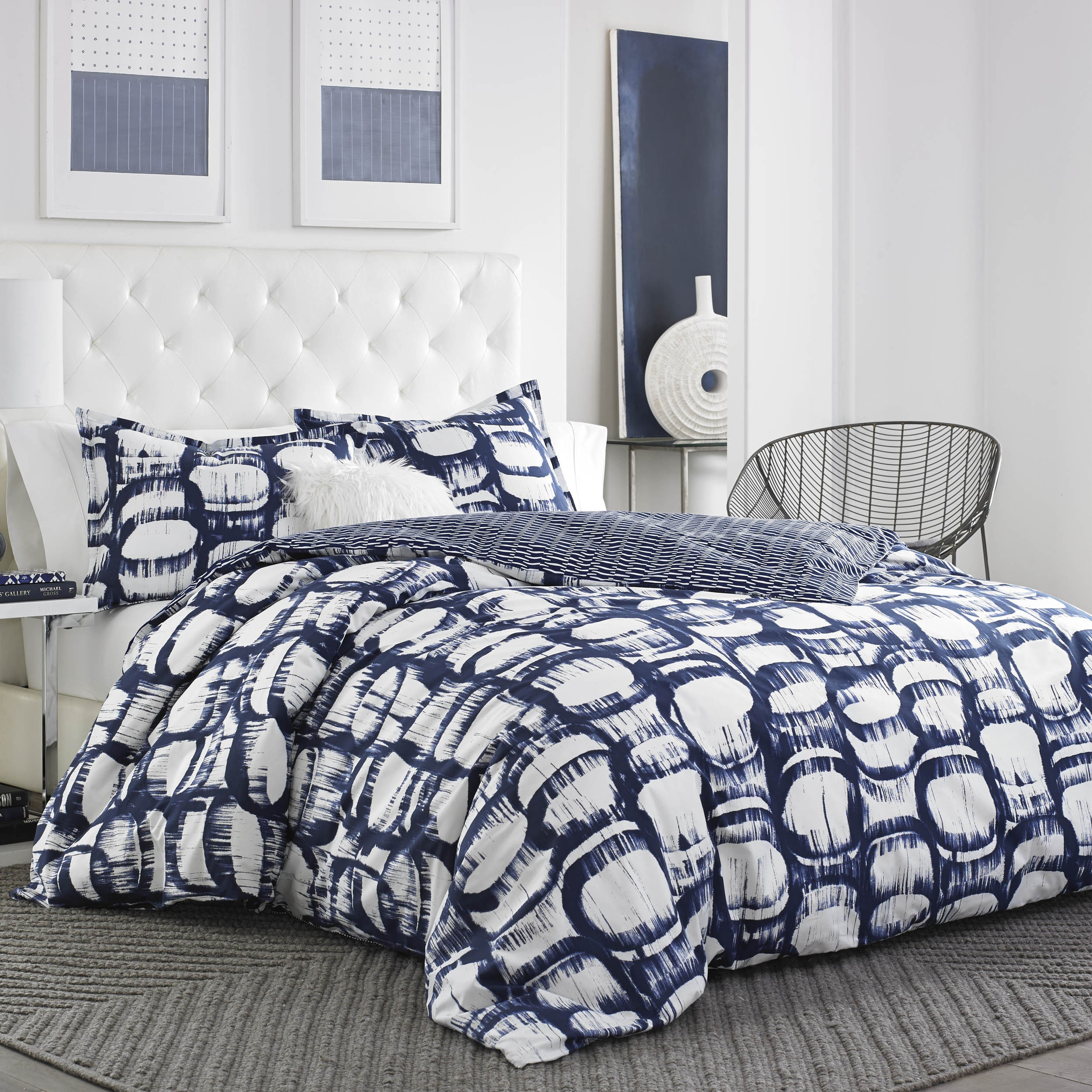City Scene  Liam Navy Cotton Comforter Set