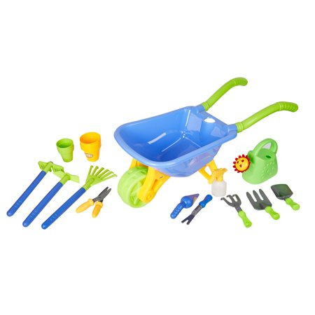 KARMAS PRODUCT Kids Garden Tool Toy Set Beach Sand Toy With Truck Kids Outdoor Toys Gardening Backyard Tool Set