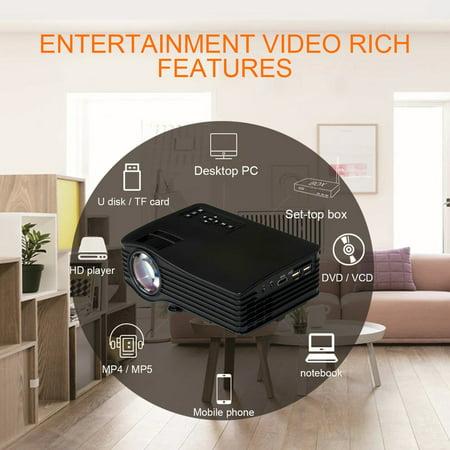 Hot Sale New Portable Uc36 1080P Full High Definition Home Theater 3D Cinema Hdmi Usb Digital Multimedia Led Mini Projector 640 480 Black