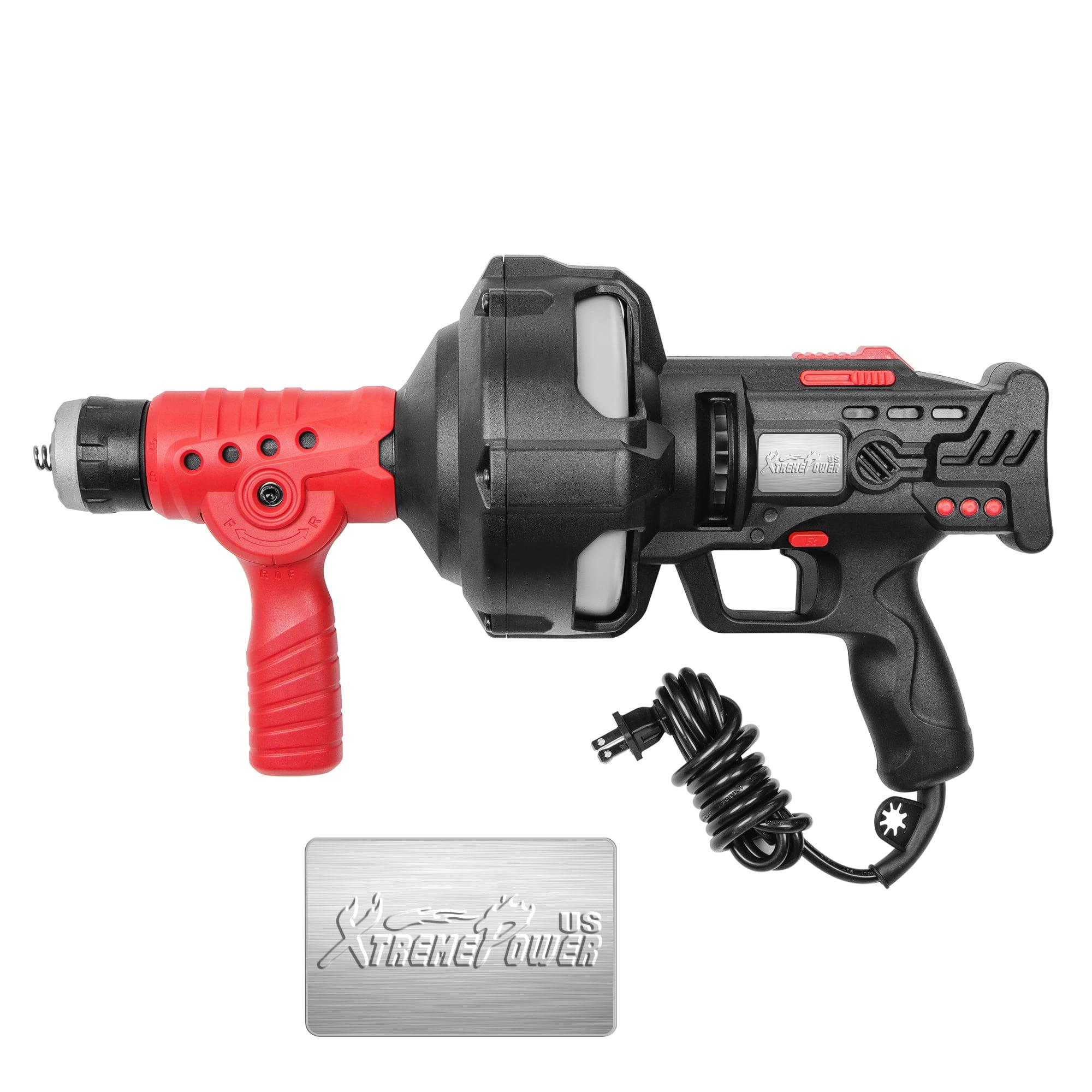 STKUSA 25ft Handheld Portable Electric Plumbing Dredger Cleaner Drain Snake Auger Pipe Cleaner Plumbing Power Tool