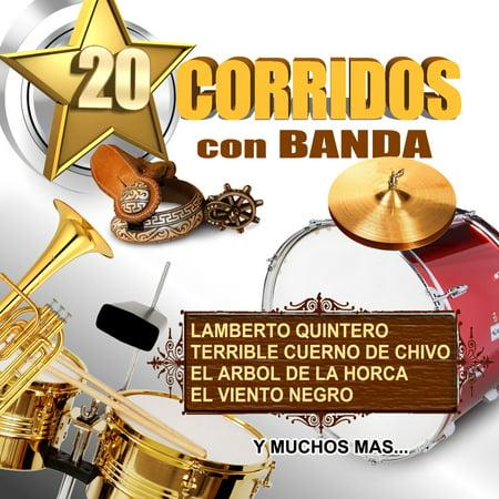 20 Corridos Con Banda (CD)