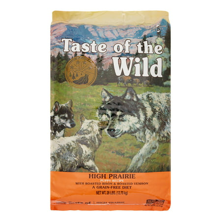 Taste of the Wild High Prairie Puppy Grain-Free Dry Dog Food, 28