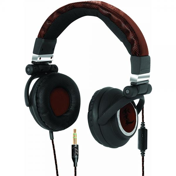 I-Tec T5502 Lethal Audio Digital Stereo DJ Headphone, Large - Brown