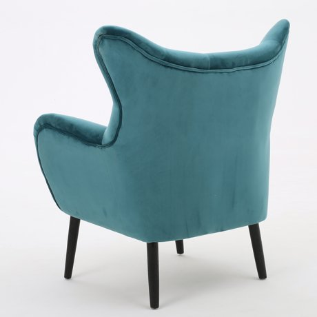 Simone Dark Teal New Velvet Arm Accent Chair