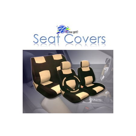 Universal Size 2005 2006 2007 2008 2009 2010 Honda Civic Synthetic Leather Seat Cover Set ALL FEES INCLUDED! ()