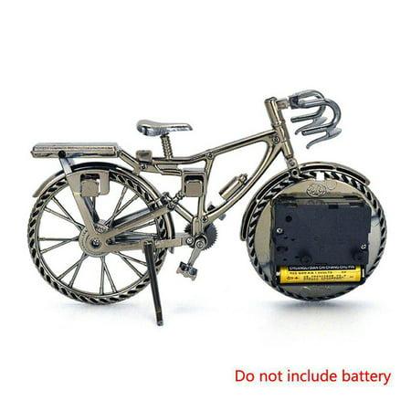 Vintage Bicycle Alarm Clock ABS Plastic Bike Table Clocks Ornament Home Art - Bike Clock