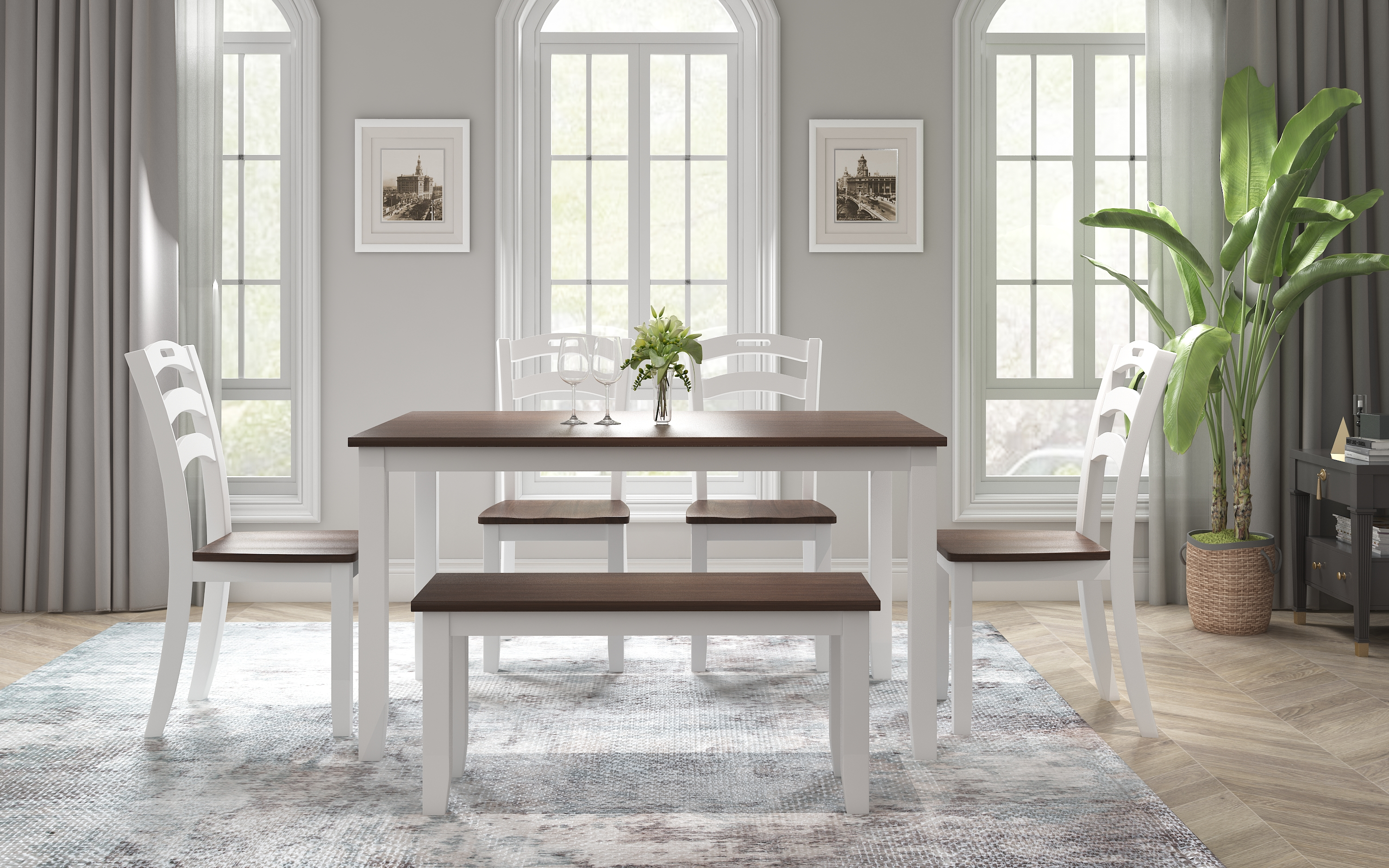 kitchen table and chairs for 6 enyopro rustic style