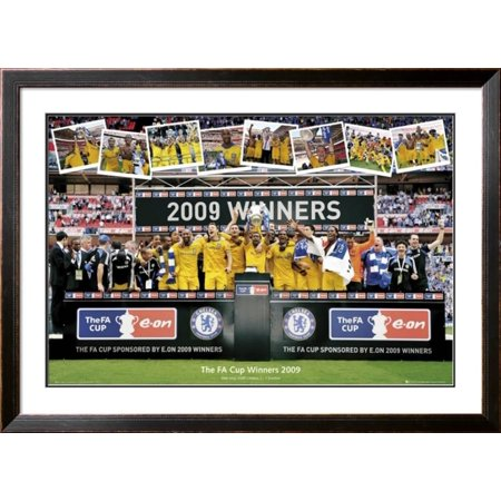 Chelsea - FA Cup Winners 2009 Framed Poster Wall Art  - 44x44