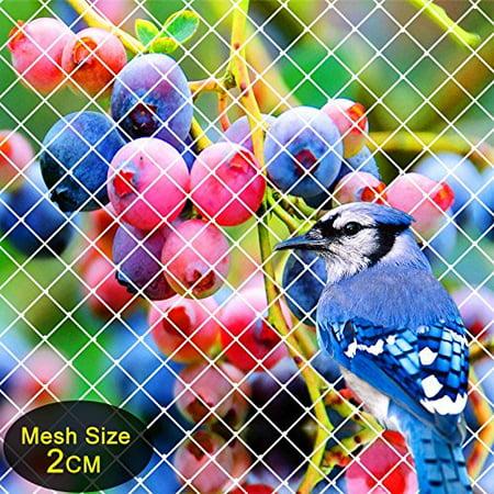 Vegetable Garden Netting (Agfabric Garden Bird Netting Anti Bird Protection Net Fruit Vegetables Flower Garden Pond Netting, 7x15ft,)