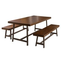 Bassie 3 Piece Rectangular Dining Table Set
