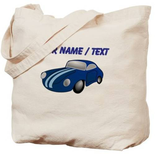 Cafepress Personalized Custom Blue Car Cartoon Tote Bag