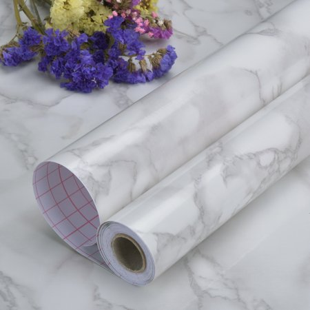 Self Adhesive Marble Contact Paper for Countertops 24  x 196.85  Decorative Contact Wallpaper Removable Waterproof Art3d Marble Contact Paper Art3d Marble Contact Wallpaper is waterproof and oil proof, Can be applied to the object with the smooth surface kitchen counter, furniture, notebook, dresser drawer, crafts, bedside table, bookcase, door even wall.