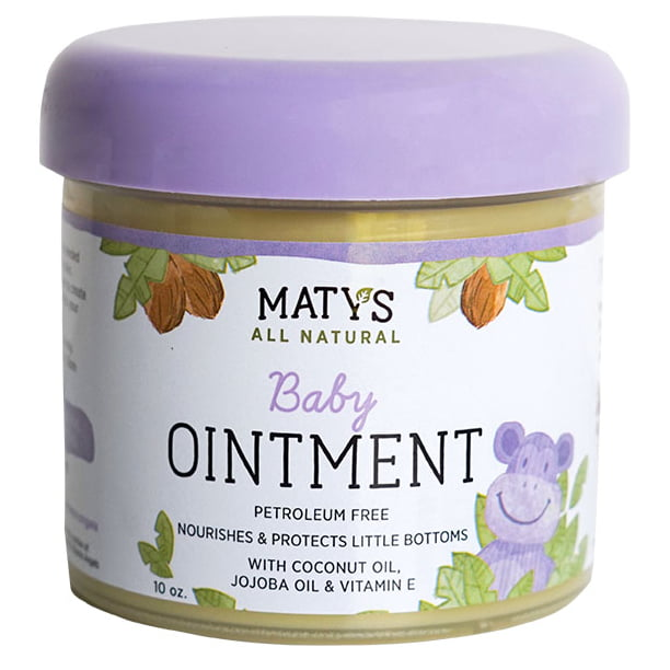 Maty's All-Natural Multipurpose Baby Ointment, Petroleum-Free, 10 Oz