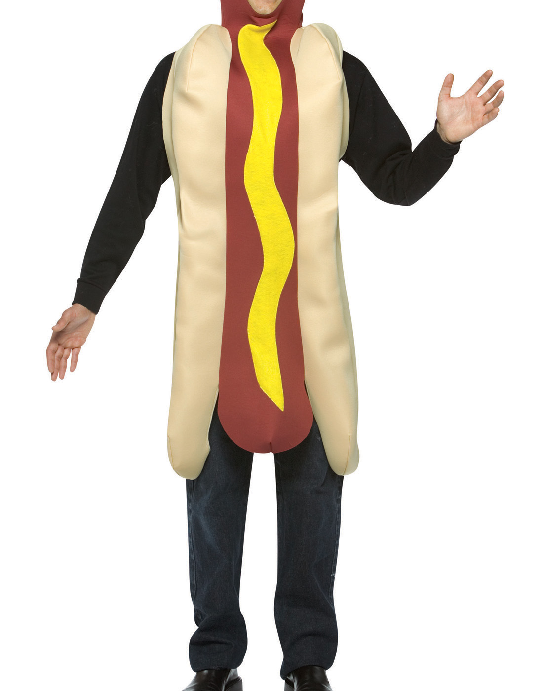 hot dog adult halloween costume - one size - walmart