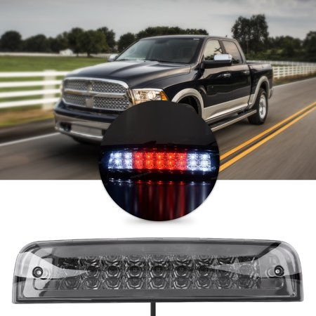 Yosoo Car 3rd Brake Light LED for Dodge Ram 1500 09-17 2500 3500 10-17 55372082AC Chrome&Smoke,Rear Tail Lamp,3rd Brake Lamp - image 8 de 8