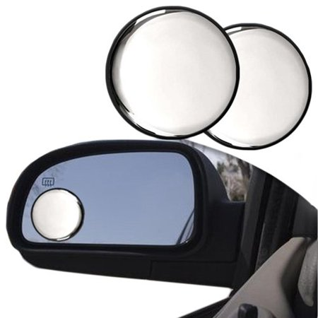 """Wideskall® 2 Pieces Universal 2"""" Wide Angle Convex View Blind Spot Mirror Stick on Car"""