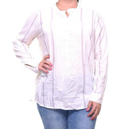 Lucky Brand Women's Striped Blouse Long Sleeve Size XS Stripe Long Lounger