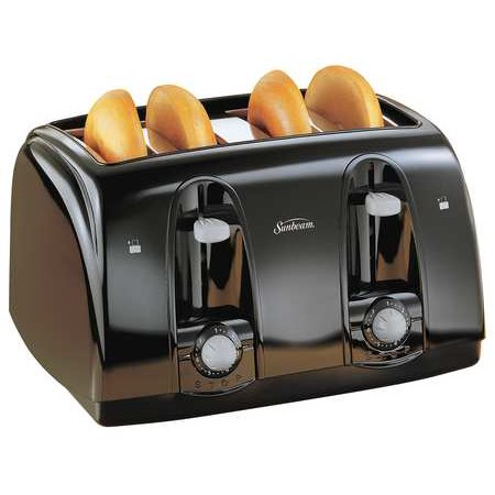 SUNBEAM 3911-100 Toaster, 4-Slice, Black