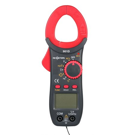 RICHMETERS RM901D Digital Clamp Meter 4000 Counts NCV Auto-Ranging AC/DC Voltage Meters Poetable Frequency Resistance Capacitance Diod Temperature Measuring Multimeter