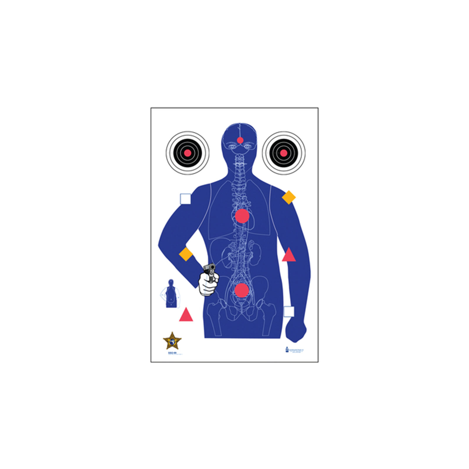 B 21 Police Shooting Targets Law Enforcement Target...