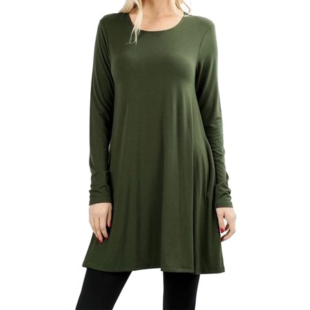 Sharon S Outlet Women S Tunic Top Loose Fit Flare Dress