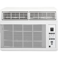 GE AHM05LY 19' Energy Star Qualified Window Air Conditioner with 5000 BTU Cooling Capacity  3 Fan Speeds  Timer  Remote Control and EZ Mount in White