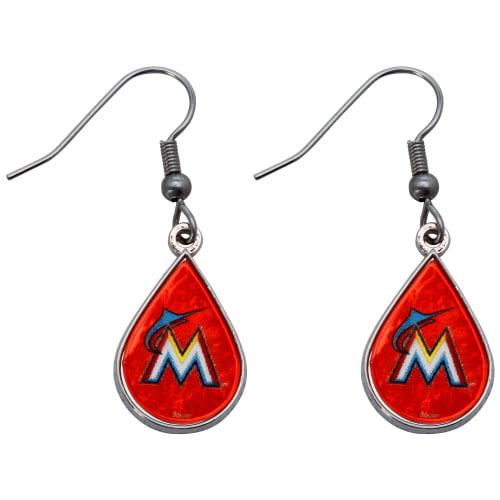 Miami Marlins WinCraft Tear Drop Dangle Earrings - No Size