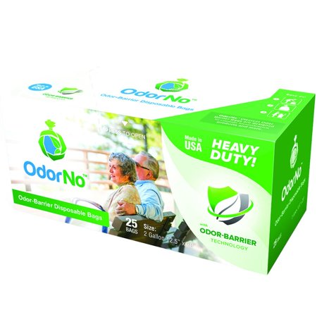 OdorNo Heavy Duty Disposal Bags, 2 Gallon, Box/25