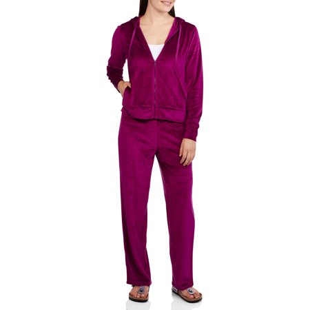 NYC ALLIANCE - Women s Velour Tracksuit Set with Hoodie - Walmart.com 24a45c665d