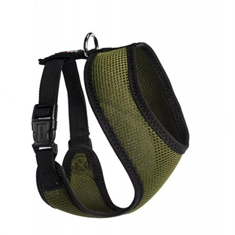 "Nylon Mesh Harness Hunter Green  16"" 24""-32"""