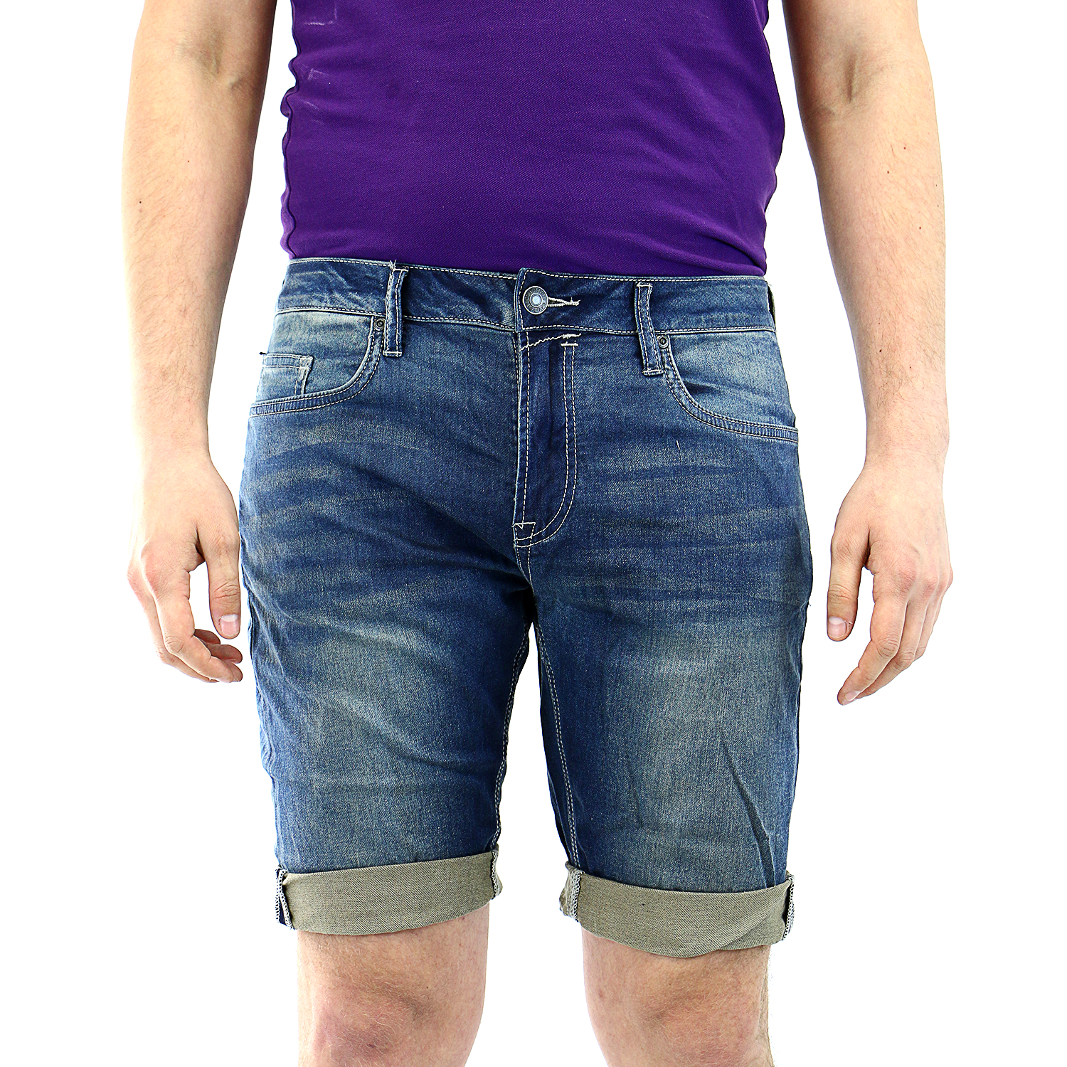 Buffalo by David Bitton Parker-X Jean Shorts - Mens