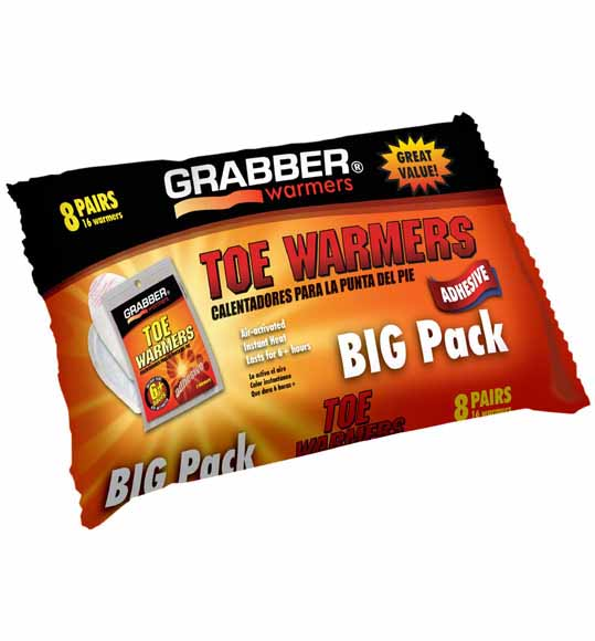 Grabber Toe Warmers BIG Pack 8 Pairs by Generic