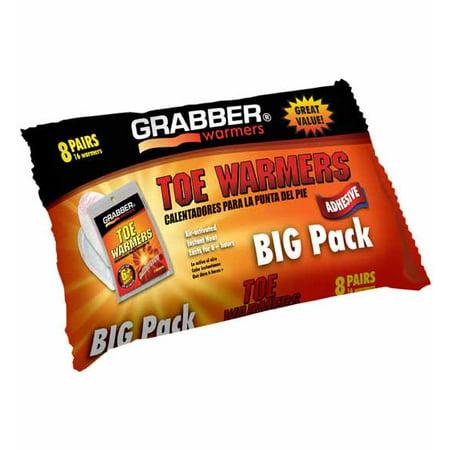 Grabber Toe Warmers BIG Pack - 8 Pairs