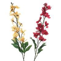 Artificial Metallic Christmas Poinsettia Branch, Burgundy & Gold, 31-Inch