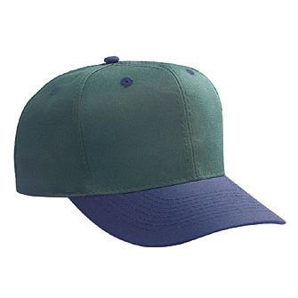 OTTO Cotton Blend Twill 6 Panel Pro Style Baseball Cap - (Style Cotton Blend)