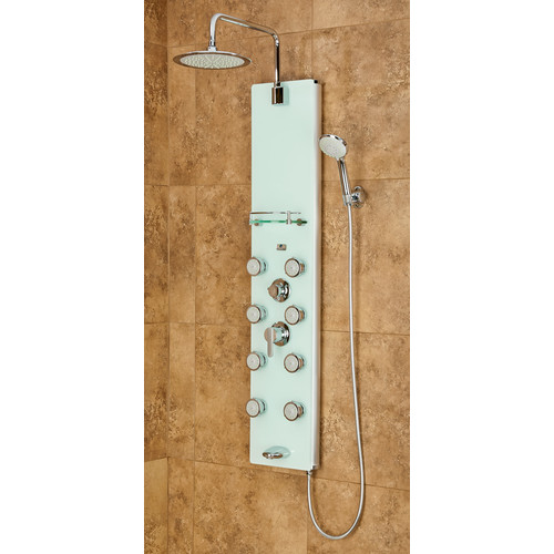 PULSE Lahaina ShowerSpa Tough Glass Shower Panel