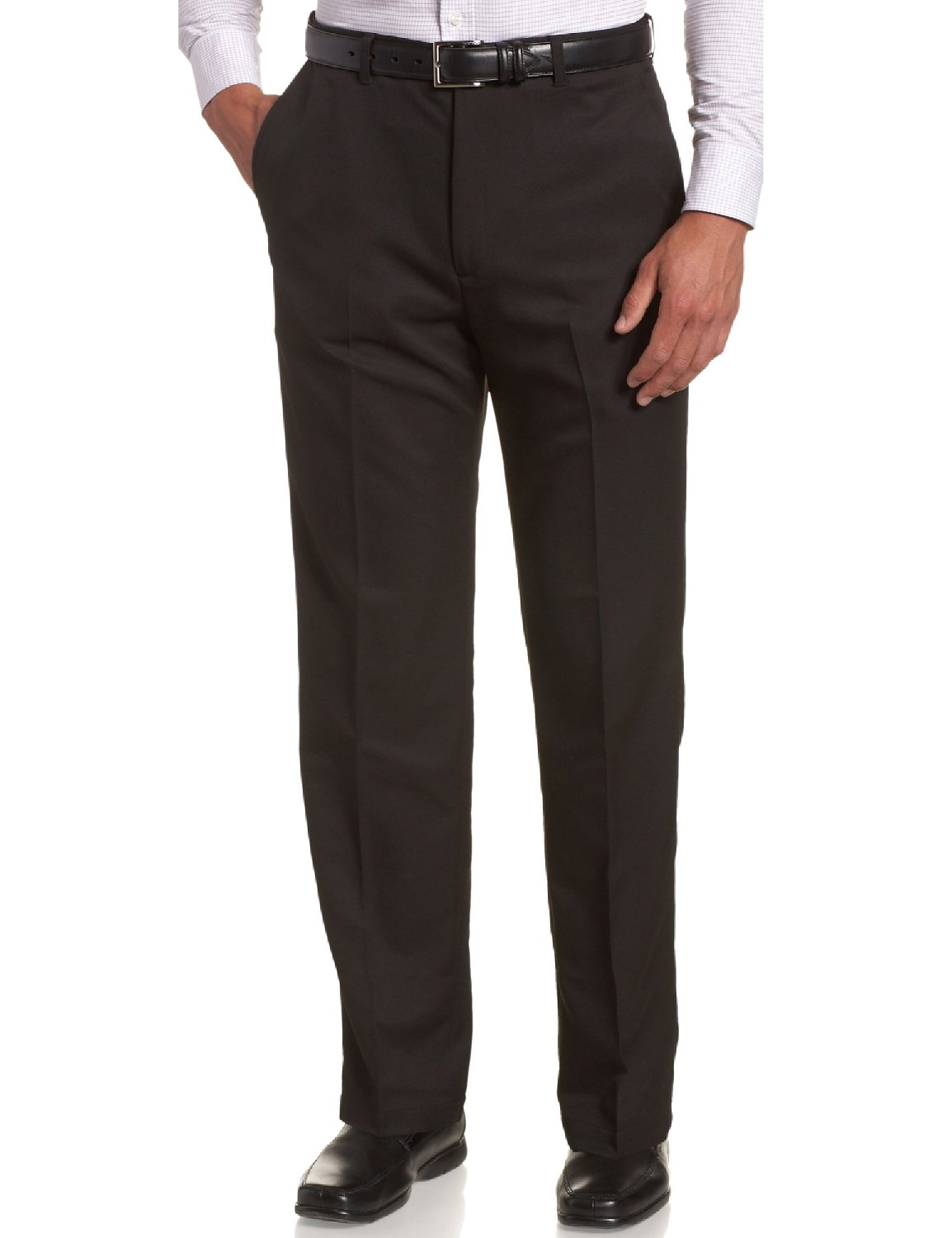 Sportoli Men's Cool Classic Fit Hidden Expandable Waist Plain Front Dress Pants