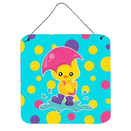 Rain Wall Hanging - Duck in the Rain on Polkadots Wall or Door Hanging Prints BB7101DS66