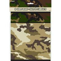 Military Camo Favor Bags, 8ct