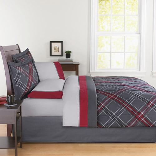 Mainstays Coordinated Bedding Set, Plaid