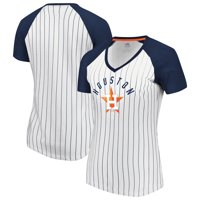 Houston Astros Fanatics Branded Women's Paid Our Dues V-Neck T-Shirt - White/Navy