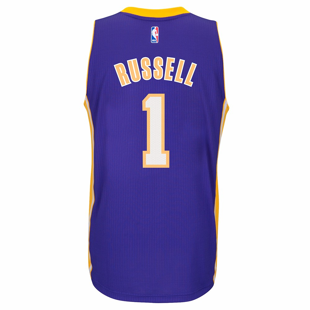 D'Angelo Russell Los Angeles Lakers Adidas Road Swingman Jersey (Purple)
