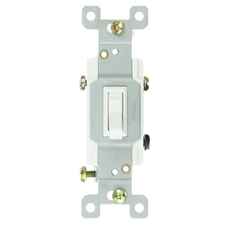 Sunlite E507/CD1 3 Way Grounded Toggle Switch, White ()