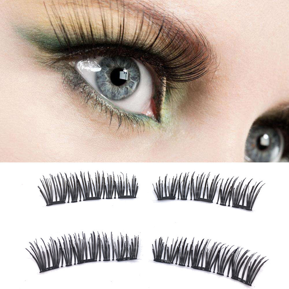 Womail Classic 3d Magnetic False Eyelashes Extension Tools Natural