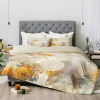 Iveta Abolina White Velvet Comforter by Deny Designs